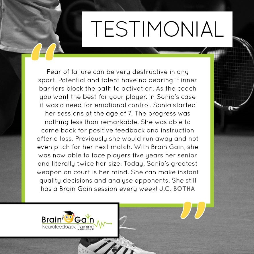 Tennis and Anxiety Testimonial